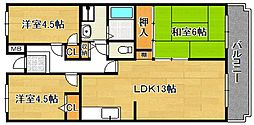 シティハイム平成(ひらの)[304号室]の間取り