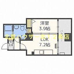札幌市営南北線 大通駅 徒歩2分の賃貸マンション 8階1DKの間取り