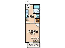 京都府京都市伏見区淀本町の賃貸アパートの間取り