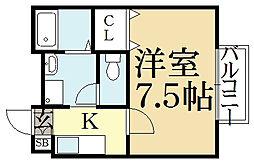 アムール松ヶ崎[2階]の間取り