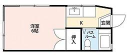 神奈川県横浜市旭区二俣川1の賃貸アパートの間取り