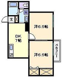 東京都荒川区荒川8丁目の賃貸マンションの間取り