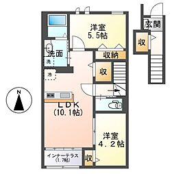 (仮称)茂原市早野新築アパート[206号室]の間取り