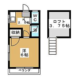 アメニティ東仙台A[1階]の間取り