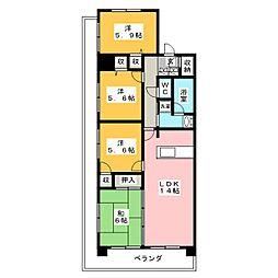 リファレンス寺塚[2階]の間取り