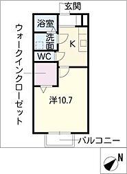 キャッスルコートウシダA棟[1階]の間取り