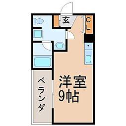 オリエンタルマンション[202号室]の間取り