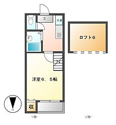 KOMハウス[2階]の間取り