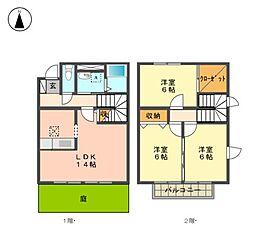 [テラスハウス] 愛知県名古屋市名東区神里1丁目 の賃貸【/】の間取り