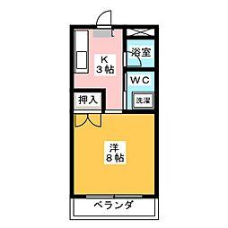 メゾン・ラ・テール[1階]の間取り