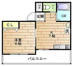ROYAL COURT(ロイヤルコート)[10階]の間取り