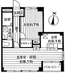 ジュネス松戸[301号室]の間取り