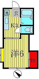メゾンドカシワ[206号室]の間取り