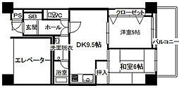 広島県呉市広本町3丁目の賃貸マンションの間取り