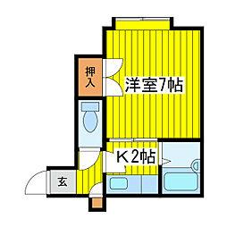 北海道札幌市東区北十九条東6丁目の賃貸アパートの間取り