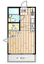 神奈川県伊勢原市桜台1丁目の賃貸アパートの間取り
