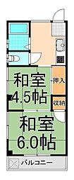 ヨシノハイツ[3階]の間取り