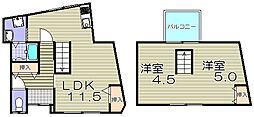 [一戸建] 大阪府大阪市福島区野田3丁目 の賃貸【/】の間取り