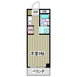 サルーテ熊谷[306号室]の間取り