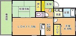 ディアスタウン C棟[1階]の間取り