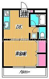 東京都練馬区立野町の賃貸マンションの間取り