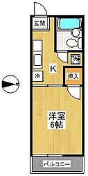 スカイパルD棟[2階]の間取り