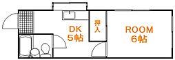 東京都北区中十条3丁目の賃貸アパートの間取り
