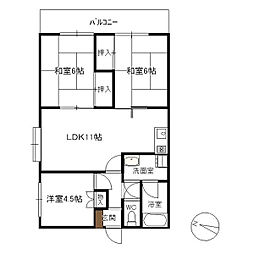 RKマンション[401号室]の間取り