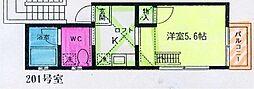 メゾン・ド・アキ[201号室]の間取り
