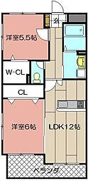 メゾンほおづきII[506号室]の間取り