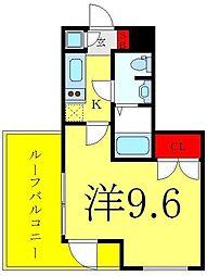 ビバリーホームズ赤塚公園II 5階1Kの間取り