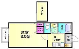 メリーゲート[1階]の間取り
