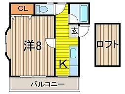 パレスイーグル[2階]の間取り
