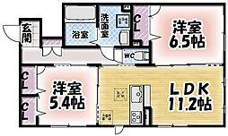 シャーメゾン鍋島[105号室]の間取り