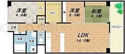 南大江パークハウス[4階]の間取り