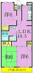 第3パールメゾン増田[3階]の間取り