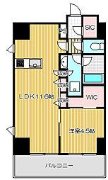 レジディア中延II[13階]の間取り