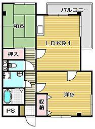 メロディハイム[2階]の間取り