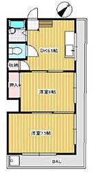 ラ・メール鵠沼[3階]の間取り