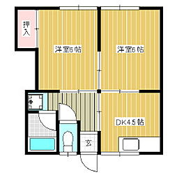 代田コーポ[1階]の間取り