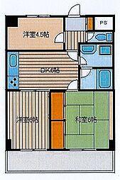 ライオンズマンション日枝町[702号室]の間取り