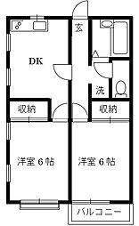 第一モンシャトーシマダ[2階]の間取り