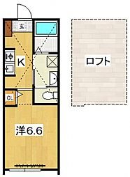 PACIFIC OCEAN KOZU[A3号室号室]の間取り