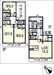 仮)D−room浦里[3階]の間取り