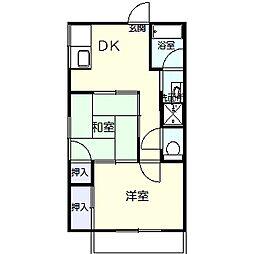 磯部アパート[201号室]の間取り