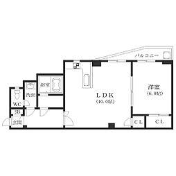 大阪府大阪市西成区岸里東2の賃貸マンションの間取り