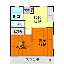 メゾン聖武[1階]の間取り