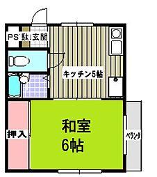 NK第9ビル[202号室]の間取り