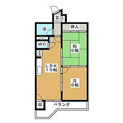 鹿野リハイム[5階]の間取り