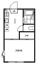 メゾン三田II[102号室号室]の間取り